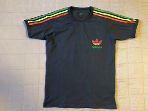 Adidas-Originals-Rasta-Ringer-T-Shirt-Sz-S-Bob-Marley-defect-small-hole