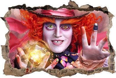Mad Hatter Alice In Wonderland 3D Window Decal Wall Sticker Art Mural H852