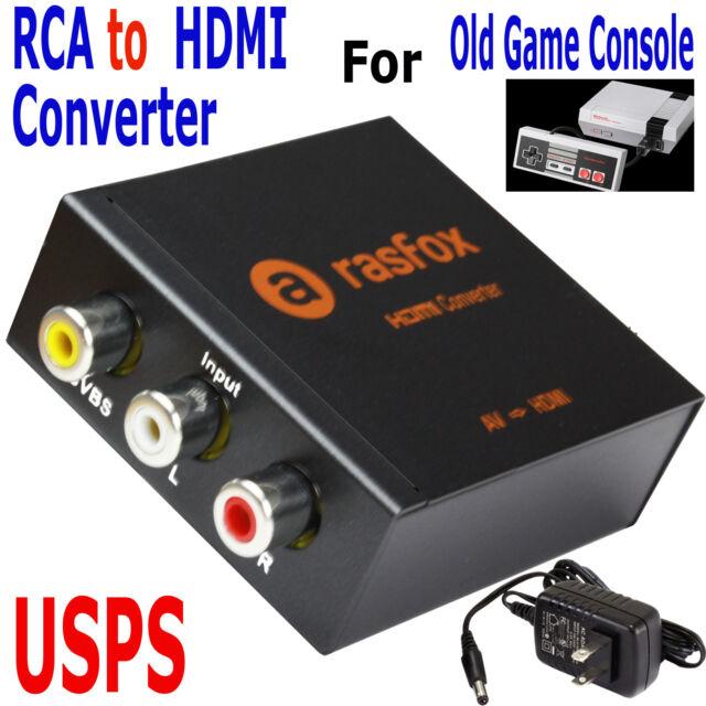 AV/3RCA to HDMI Converter 1080P Upscaler For N64 NES Sega Xbox PS2 Game Console