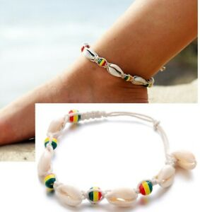 83cc7d5016117 Details about Hawaiian Beads Sea Color Seashell Anklet Beach Sandal Ankle  Bracelet Summer AD
