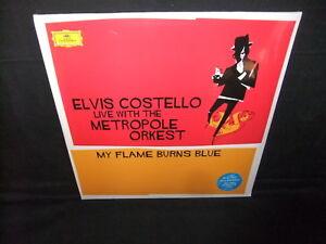 Elvis-Costello-Live-Metropole-Orkest-My-Flame-Burns-Blue-Vinyl-Sealed-New-2-LP