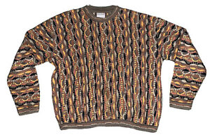 100-Authentic-Vintage-COOGI-PULLOVER-XL-Herren-Biggie-Smalls-McGregor-Abstrakt