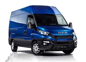 IVECO-DAILY-TRUCK-BLACK-AXLE-NUDGE-A-BAR-STAINLESS-STEEL-BULL-BAR-2015-ONWARDS
