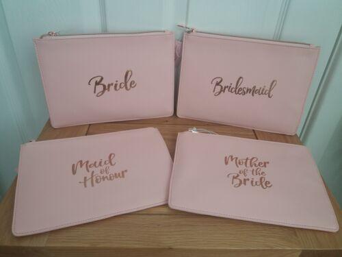 Bride to Be MOTB Mother of the Bride Clutch Bag Wedding Pink Rose Gold Makeup