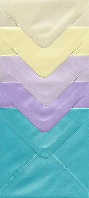 "50 82mm x 110mm fresh white pearl shimmer enveloppes 3.2/"" x 4.3/"""