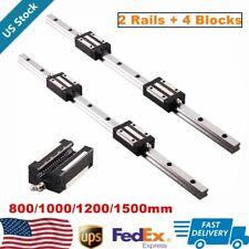 2pcs Linear Rail Guide Hgr20 800mm 1500mm4pcs Hgh20ca Bearing Block Set Cnc Us