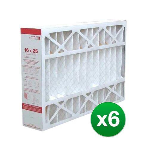 6 Pack Fits Honeywell Furnace FC200E1029 16x25x4 Air Filter MERV 11