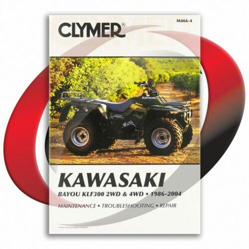 1986-2004 Kawasaki KLF300 2WD Bayou Repair Manual Clymer M466-4 Service Shop