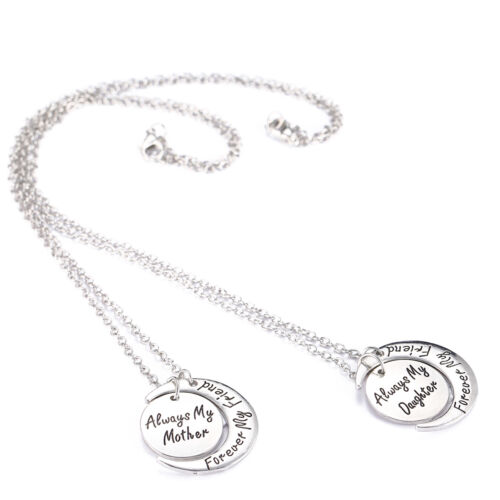 Family Moon Best Friend Mother Daughter Sister Pendant Necklace Keyring Keychain