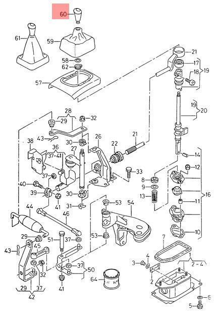Genuine Gear Shift Knob Leather Seat Vw Cordoba Vario Ibiza St