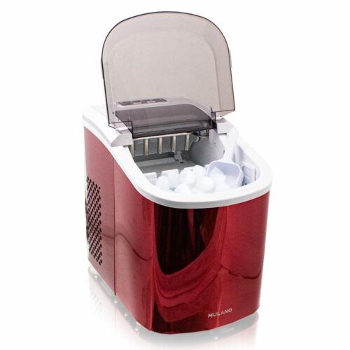 Eiswürfelmaschine Icemaker Ice Cube Eiswürfelbereiter Edelstahl Rot  ypnxG