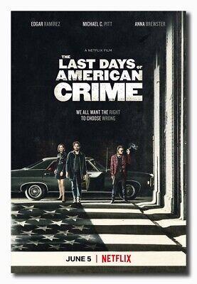 E 129 The Last Days Of American Crime Movie 2020 Silk Poster Art 24x36 27x40 Ebay