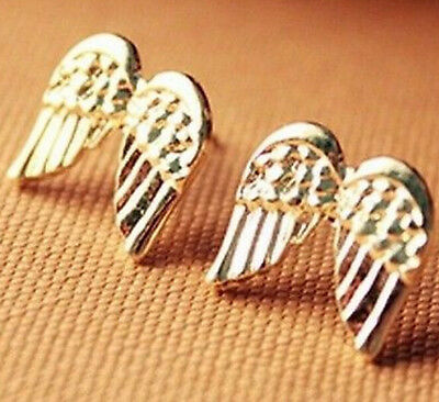 FD863 Golden Plated Retro Vintage Wishing Retro Earrings Stud Jewelry ~Wings :)