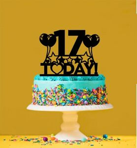 Image Is Loading 17th Birthday Cake Topper 17 Years Old Seventeenth