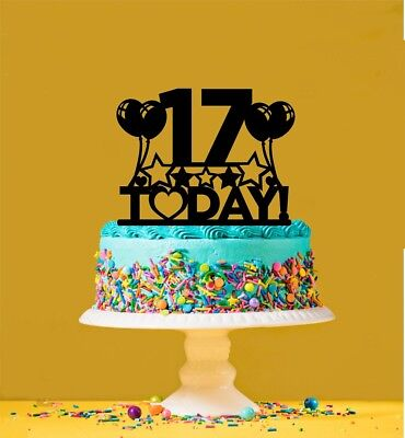 Tremendous 17Th Birthday Cake Topper 17 Years Old Seventeenth Ebay Funny Birthday Cards Online Fluifree Goldxyz