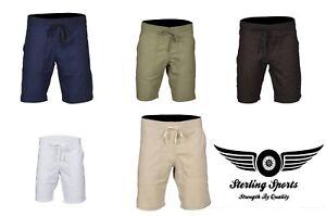 Mens-Linen-Shorts-Casual-Pants-Summer-Holiday-Beach-Bottoms-S-M-L-XL-XXL-Chinos