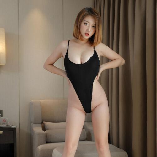 Thong Suit Sheer Women/'s Lingerie Leotard Bodysuit Perspective Mesh See-through