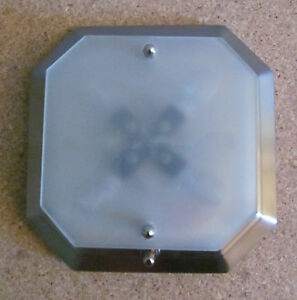 Mini RV Brush Nickel 12 Volt Dinette Ceiling Wall Mount Light Flat Frost Glass eBay