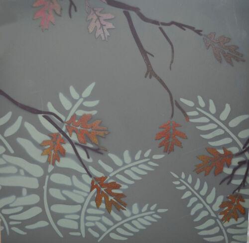 """Vinyl Airbrush Camo Stencils 14/"""" 10 Mil Leafy Oak, Fern, Wheat Field 3Pack"""