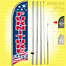 Furniture Sale Windless Swooper Flag Kit 15 Feather Banner Sign Usa Bb H