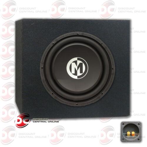 """MEMPHIS 10/"""" DUAL 4-OHM CAR AUDIO DVC SUBWOOFER 500 WATTS MAX PLUS SUBWOOFER BOX"""