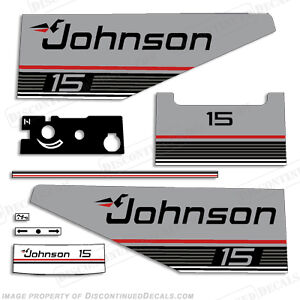 Johnson 1987 1988 15hp Outboard Decal Kit Discontinued