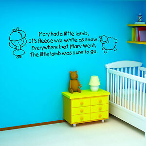 Childrens Nursery Rhyme Vinyl Wall Art