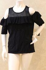 Aqua Womens Red Printed Cold Shoulder Pullover Top Shirt M BHFO 3250