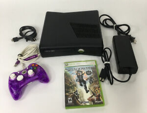 Microsoft-Xbox-360-Slim-250GB-Matte-Black-Console-With-Shadowrun