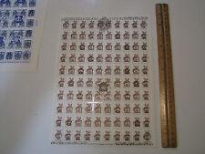 Historical badges Coat of Arms UKRAINE 1992 Overprint Russian Stamps sheet of 50