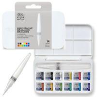 Winsor & Newton Cotman Watercolour Brush Pen Set - 12 Half Pan + Waterbrush