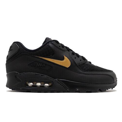 Size 14 - Nike Air Max 90 Essential Black Gold - AV7894-001 for sale online | eBay