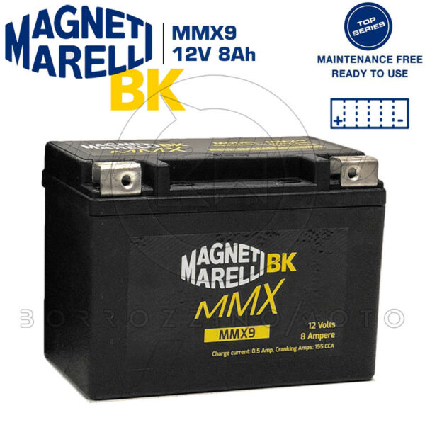 Batteria Mmx Magneti Marelli Mmx9 = Ytx9-bs Sigillata Suzuki Ux 150 Sixteen 2006
