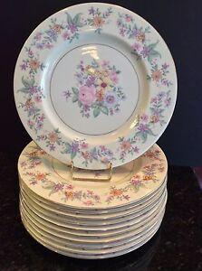 Image is loading Set-12-Haviland-Ivory-Bone-China-Dinner-Plates- & Set 12 Haviland Ivory Bone China Dinner Plates 10-3/4