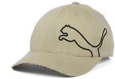 Puma Honeycombed Flexfit Stretch Fit Beige & Black Cap Hat $30 Size L/XL