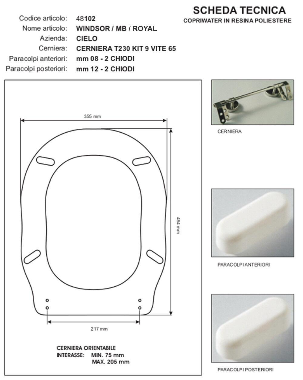 WC Sitz Toilettensitze series kompatibel Royal Windsor - Hersteller Hersteller Hersteller Eos bbeea1