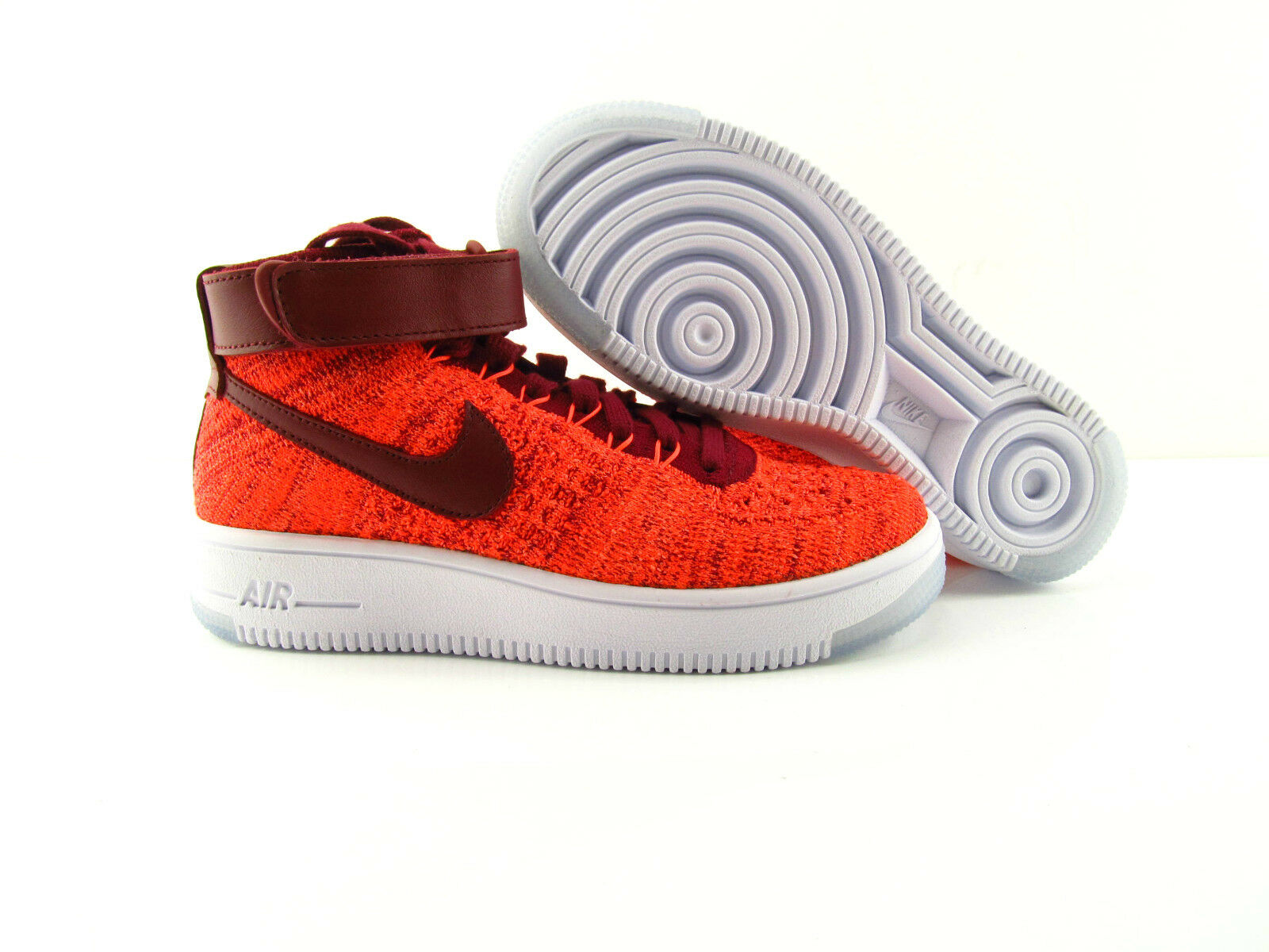 Nike Air Force 1 Sneakers AF1 Flyknit Crimson ROT Sneakers 1 New UK_7.5 US_10 EUR 42 d740df