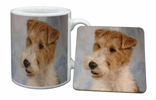 Fox Terrier Dog Mug+Coaster ChristmasBirthday Gift Idea, ADWHT1MC