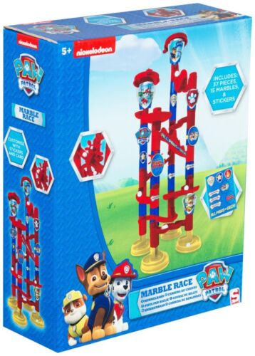 KIDS PAW PATROL MARBLE RUN SET BUILD RACE CONSTRUCTION ACTIVITY GAME TOY 5+Y