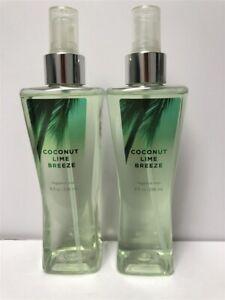 Lot-2-Vintage-Bath-amp-Body-Works-Coconut-Lime-Breeze-8-0-oz-236ml-Fragrance-Mist