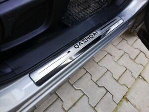 Pour-Nissan-Qashqai-J11-Accessories-Seuil-De-Porte-Acier-Inoxydable-Scuff-Plaque