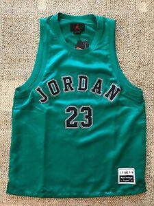 Details about Nike Air Jordan Mens Sleeveless Basketball Jersey Green Size Large #23 Jordan