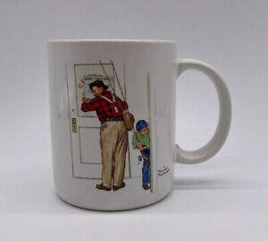 Norman-Rockwell-Vintage-Mug-Coffee-Cup-Closed-For-Business-Made-In-Japan