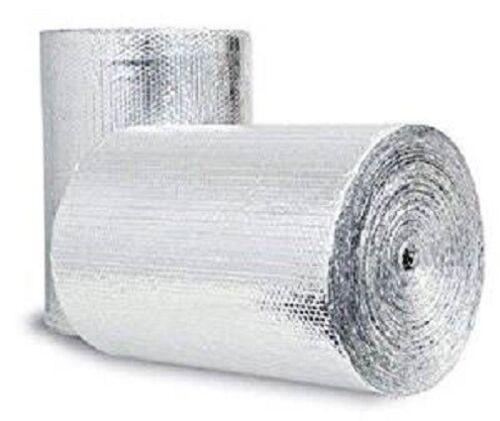 Bubble Insulation Heat Reflective Double Foil Radiant Barrier 4ft x 2ft 8sqft