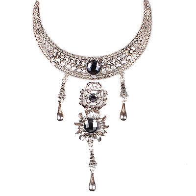 Women's Elegant 925 Silver Chain Charm Moon Necklace Pendant Fashion Jewelry