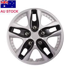 Sparco SPC1591BKSV wheel covers Lazio 15-inch black//silver