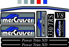 MERCRUISER THE NEW BLUUE  2017 MOST COMPLETE TRS W/GRAY RAMS STICKER SET