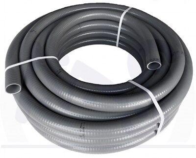 Meterware Flexschlauch Flexibles PVC Rohr 50 mm für Schwimmbad Teich Poolflex