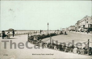 WORTHING-Marine-Parade-Postcard-SUSSEX-E-T-W-D