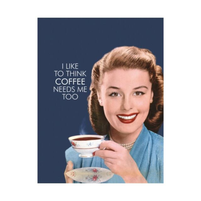 Home, Furniture & DIY I Drink Coffee Because I Need It Small A5 Tin Metal Steel Sign Retro Humour